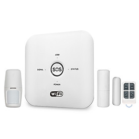 Tuya Smart WIFI GSM Home Security Alarm System PIR Remote Controlled Compatible with Alexa Google Assistant 100-240V