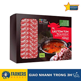Lẩu Tomyum Ba Chỉ Bò Mỹ Orifood (1,3Kg)