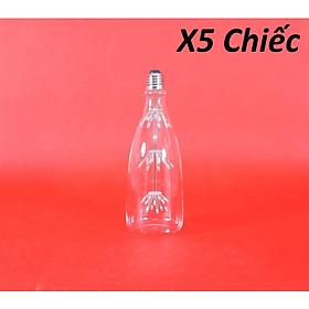 Bộ 5 bóng đèn led trang trí hoa hình chai rượu, đèn trang trí độc đáo hàng chính hãng