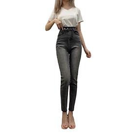 Quần jean dài nữ màu đen xinh xắn