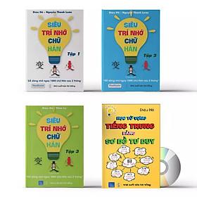 Combo 4 sách: Siêu trí nhớ chữ Hán tập 01 + tập 02 + tập 03 + học từ vựng bằng sơ đồ tư duy +DVD tài liệu nghe
