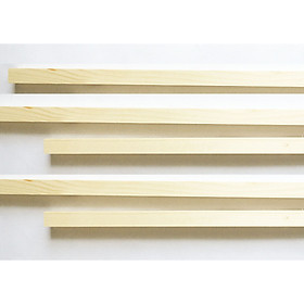 Combo 5 thanh gỗ vuông gỗ thông phi 2.5cm x 60-120cm  treo mành, phụ kiện macrame