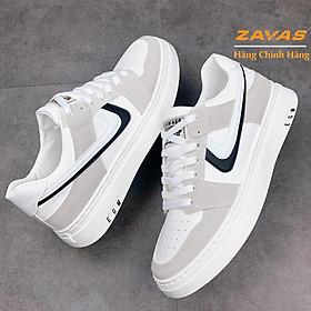 Giày thể thao nam sneaker ZAVAS chính hãng màu trắng đế cao su may êm nhẹ S409
