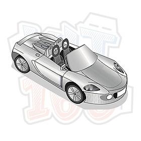 Mô hình giấy xe ô tô Porsche Carrera GT
