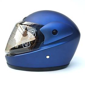 Mũ bảo hiểm fullface hàm SUNDA 555 trơn - Xanh nhám