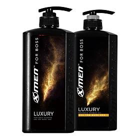 Combo Dầu gội nước hoa X-Men for Boss Luxury 650g + Sữa tắm nước hoa X-Men for Boss Luxury 650g