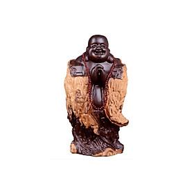 Tượng Phật Di Lặc Chúc Phúc Gỗ Mun Nam Phi