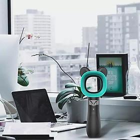 Hình đại diện sản phẩm Quạt Không Cánh Zero9 Hình Tai Thỏ Tặng Kèm 1 Emoji Lò Xo Bất Kỳ - Giao Màu Ngẫu Nhiên