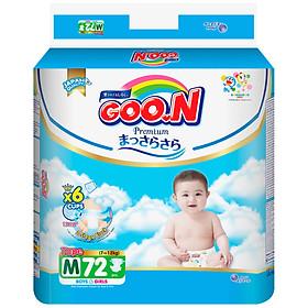 Tã dán Goon Premium cao cấp gói siêu đại M72 (7kg ~ 12kg) 72 miếng
