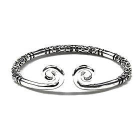 Combo 1 vòng kim cô 1 nhẫn kim cô bạc vân đen