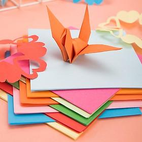 Giấy thủ công 100 tờ học sinh Deli - 10x10cm /15x15cm - Giấy gấp orgigami, hoa, giấy gấp hạc - Nhiều màu - Nhiều kích thước - 6406 / 6407 / 74801