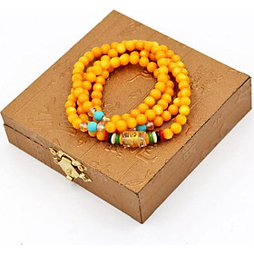 Chuỗi hạt đeo tay 108 hạt đá thạch anh - Tràng chuỗi niệm Phật - Mang lại may mắn, bình an