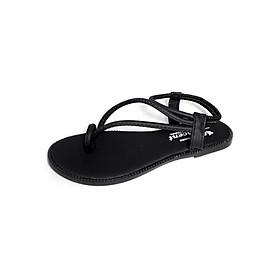 Giày sandal nữ xỏ ngón thời trang T088K135 - Đen