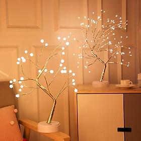 Đèn ngủ LED trang trí hình cây, cây đèn led ánh sáng lung linh trang trí tết, noel, góc làm việc, quán cafe cực kỳ đẹp