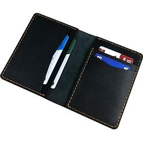 Ví nam mini đựng giấy tờ xe thẻ ATM (Đen)