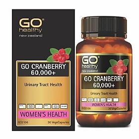 Viên uống Go Cranberry 60000+ hỗ trợ điều trị viêm đường tiết niệu, viêm phụ khoa, giảm tiểu buốt, tiểu dắt, tiểu đêm, khó đi tiểu ở phụ nữ