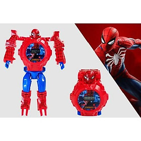 Đồng hồ robot biến hình-Đồng hồ siêu nhân dành cho Bé Trai/ Bé Gái - Người nhện