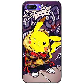 Ốp lưng dành cho  Honor 10  mẫu Pikachu áo khoác