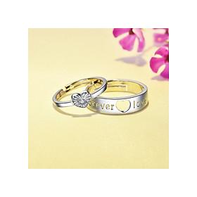 Cặp nhẫn đôi bạc S925 hàn quốc cao cấp - Trang sức PANMILA(ND.A4.B)