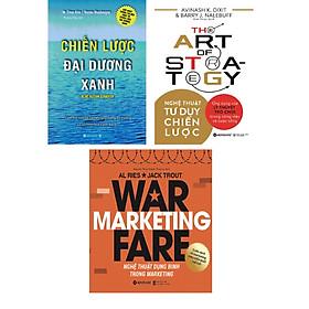 Bộ Sách Rèn Luyện Tư Duy Chiến Lược ( Chiến Lược Đại Dương Xanh + Nghệ Thuật Tư Duy Chiến Lược + Nghệ Thuật Dụng Binh Trong Marketing ) tặng kèm bookmark Sáng Tạo