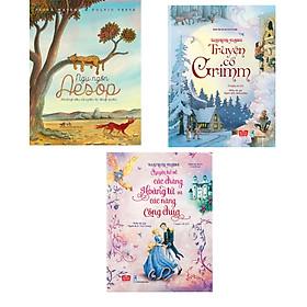Combo 3 cuốn Ngụ ngôn Aesop những câu chuyện bị lãng quên (Tái bản) + Illustrated Classics - Truyện cổ Grimm + Illustrated Classics - Chuyện kể về các chàng hoàng tử và các nàng công chúa