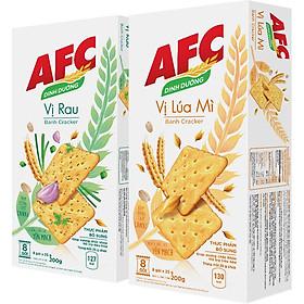 Combo Bánh AFC Lúa Mì 200g và Rau Cải 200g