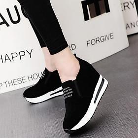 Giày Nữ Sneakers Độn Đế Cao 6cm H71