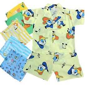Combo 2 bộ quần áo bé trai Pijama CỘC TAY chất vải tole, lanh 2 da loại 1 mềm, mịn, mát size 9-29 kg, hàng xưởng may Việt Nam, chất lượng cao