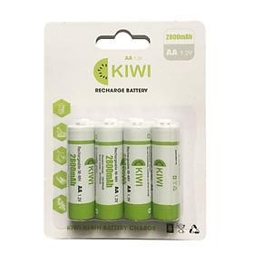 Pin sạc Kiwi vỉ 4 viên 2800mAh - Hàng chính hãng