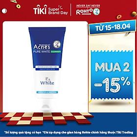 Sữa Rửa Mặt Dưỡng Trắng Và Ngăn Ngừa Mụn Acnes Pure White (100g)