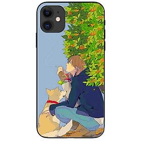 Ốp lưng dành cho Iphone 12 Mini mẫu Chàng Trai Và Cậu Vàng