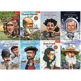 Bộ Sách Giúp Trẻ Hiểu Biết Về Những Người Thay Đổi Thế Giới ( Isaac Newton + Charles Darwin + Charlie Chaplin + Neil Armstrong + Anh em nhà Wright + Ferdinand Magenllan + Anne Frank + Claude Monet ) (Tặng Notebook tự thiết kế)