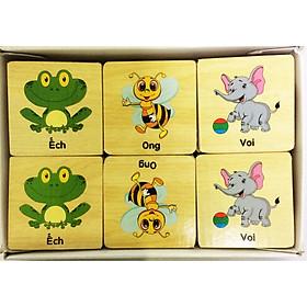 Đồ chơi gỗ - Tìm hình giống nhau luyện trí nhớ cho bé
