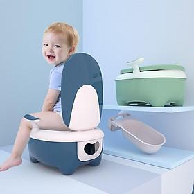 Bô đi vệ sinh hình chiếc ghế tựa và bệ để tay cao cấp, bô đi vệ sinh cực dày và chắc chắn cho bé