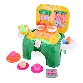 Hộp đồ chơi dụng cụ nhà bếp kiêm ghế ngồi 2 trong 1 cho bé Nhựa Chợ Lớn (MS 250)