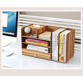 Kệ mini để bàn Kệ tài liệu gỗ văn phòng lắp ghép nhiều màu và nhiều ngăn