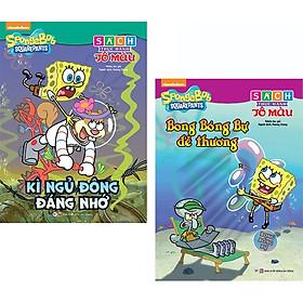 Bộ Sách Thực Hành Tô Màu Spongebob: Bong Bóng Bự Dễ Thương + Kỳ Nghỉ Đông Đáng Nhớ (Bộ 2 Cuốn)