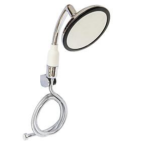Bộ tay dây sen siêu tăng áp mặt tròn lõi lọc Vitamin C Eurolife EL-146SH (Trắng bạc)