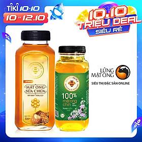 Combo Mật ong rừng sữa ong chúa Honimore 500g và mật ong rừng nguyên chất Honimore 360g - Giúp đẹp da, tăng cường sức đề kháng