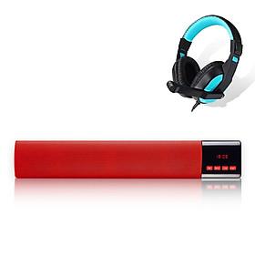 Combo Loa Bluetooth Soundbar B28S, Màn Hình LED Nổi Bật, Tích Hợp FM, AUX, TF, USB Âm Thanh Siêu Trầm Chân Thực + Tặng Tai Nghe Chụp Tai CT770 Cao Cấp