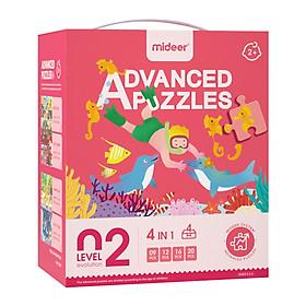 Bộ xếp hình nâng cao 7 cấp độ, chính hãng Mideer, cho bé từ 2+ đến 7+