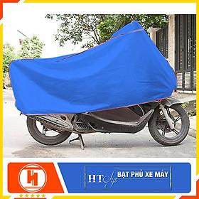 Bạt phủ-Bạt trùm xe máy chống nắng mưa - HT SYS - Màu Xanh - Chất liệu Polyeste cao cấp