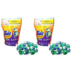 Viên nước giặt Tide Pods 3 in 1 Spring Meadow 42 Viên X 2 bịch  - USA