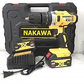 Bộ máy khoan pin 38V khoan tường, khoan sắt, khoan bê tông máy 2 pin, đảo chiều và mũi khoan