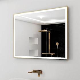 Gương treo tường khung inox đèn led hình chữ nhật Citybuilding CBJ A1