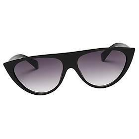 Women Fashion Vintage Sunglasses Large Eyewear Designer  black frame & gradient