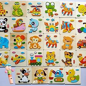 Combo 10 tranh ghép hình nổi cho bé - Và kèn gỗ siêu xinh