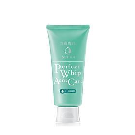 Sữa rửa mặt giảm mụn Senka Perfect Whip Acne Care 100g 15554 tặng Mặt nạ dưỡng da The Faceshop Real Nature (1 miếng)