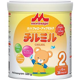 Combo 4 hộp Sữa Morinaga Số 2 Chilmil (320g) và đồ chơi tắm Toys House