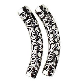 Tibetan Silver Curved Tube Bead DIY Jewelry Necklace Bracelet Craft